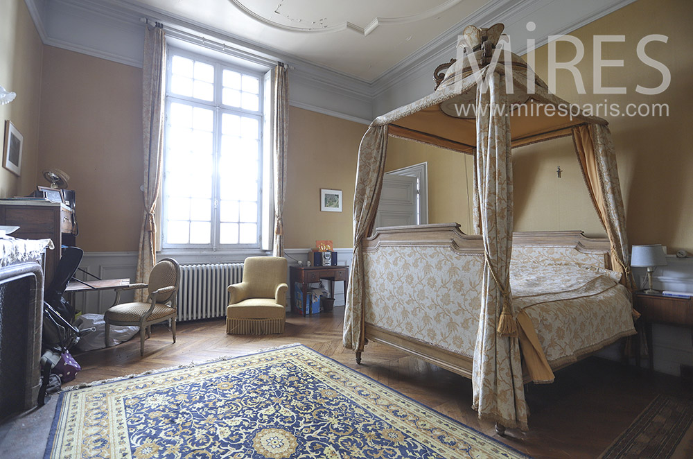 Four poster bed. C1819