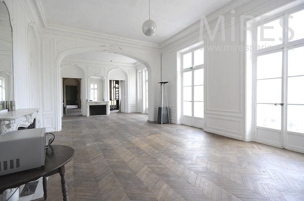 Large white living room. C1830