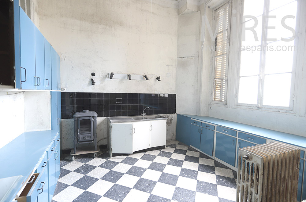 Patinated vintage kitchen. C1830