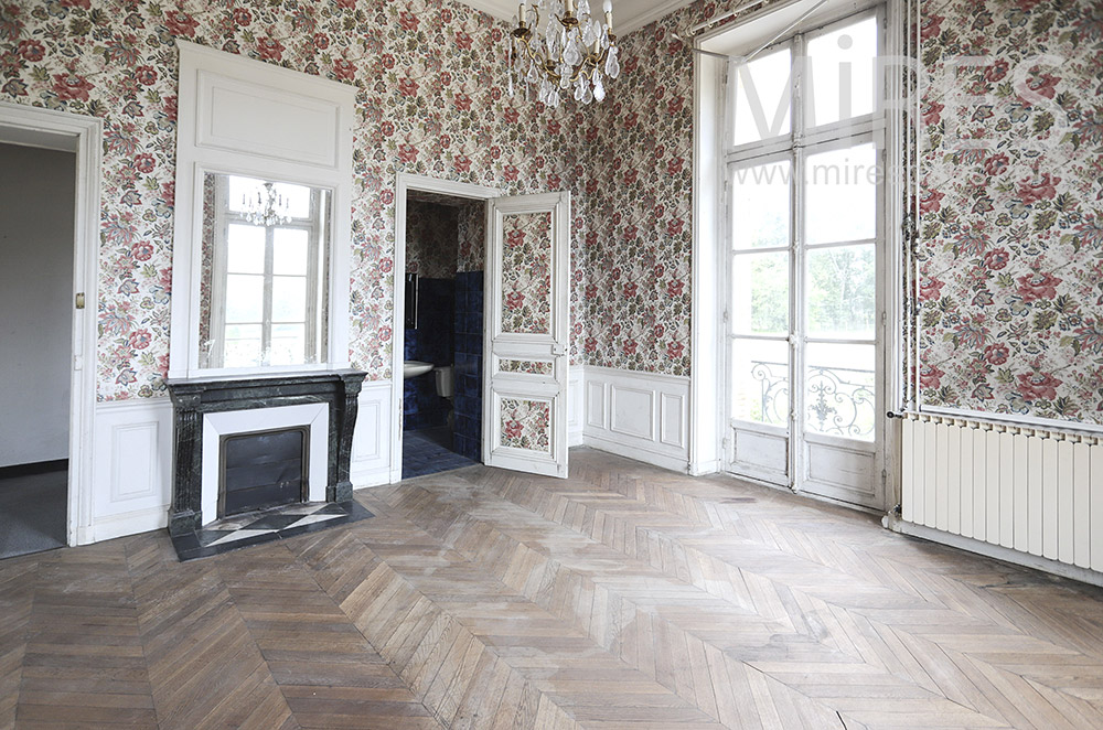 Beautiful empty retro room. C1830