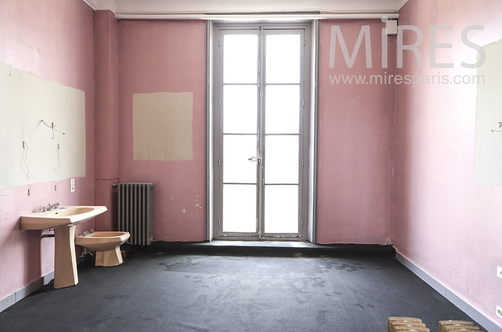 Patinated pink bedroom. C1830