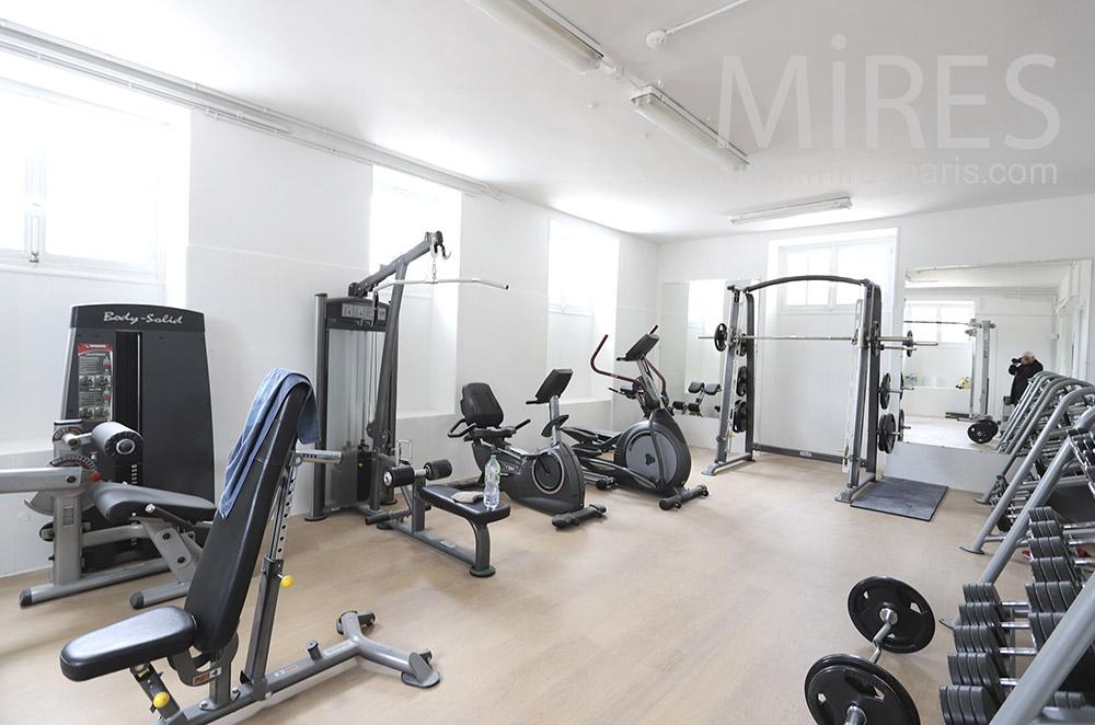 White gym. C1830