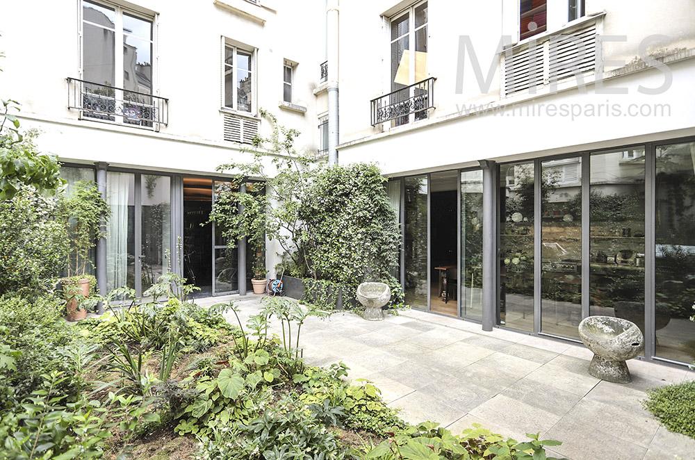 Terrace and garden. C1836