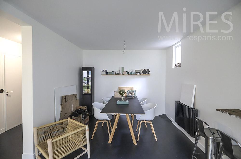 Decorative dining room. C1837