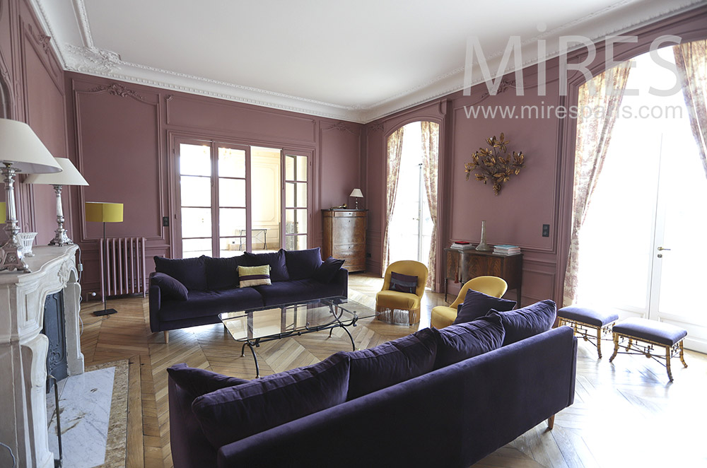 Beautiful purple lounge. C1842