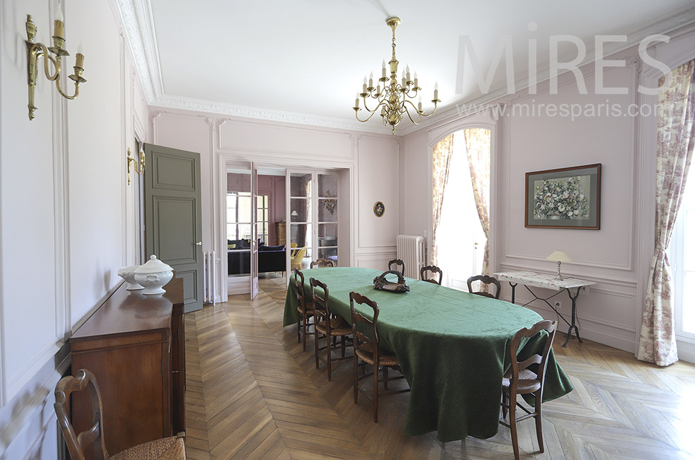 Long classic dining room. C1842