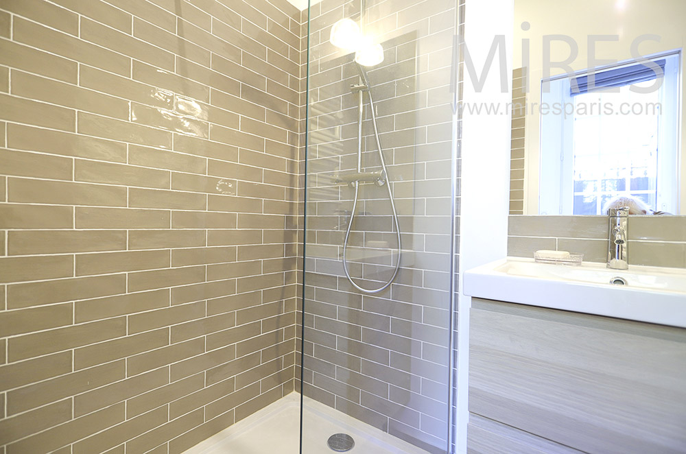 Tiled shower. C1846