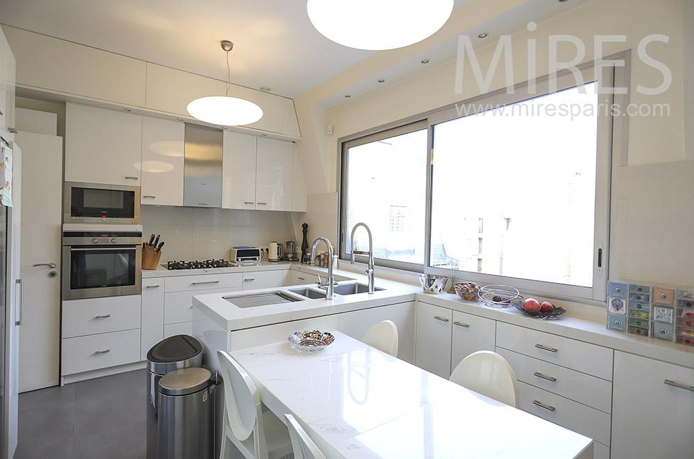 White kitchen. C1849