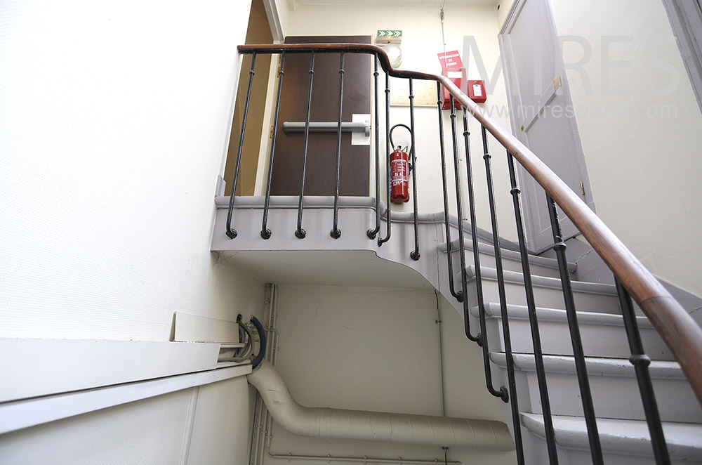 Service staircase. C1850