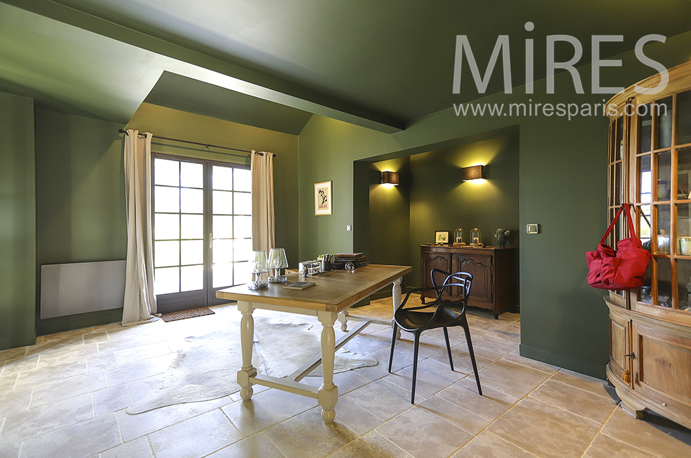 Large green office. C1854