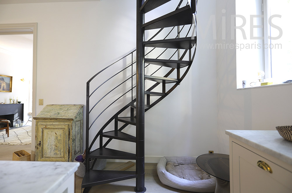 Black helical staircase. C1857