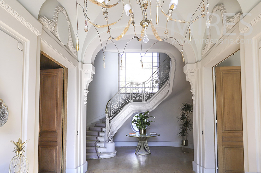 Large staircase. C1862