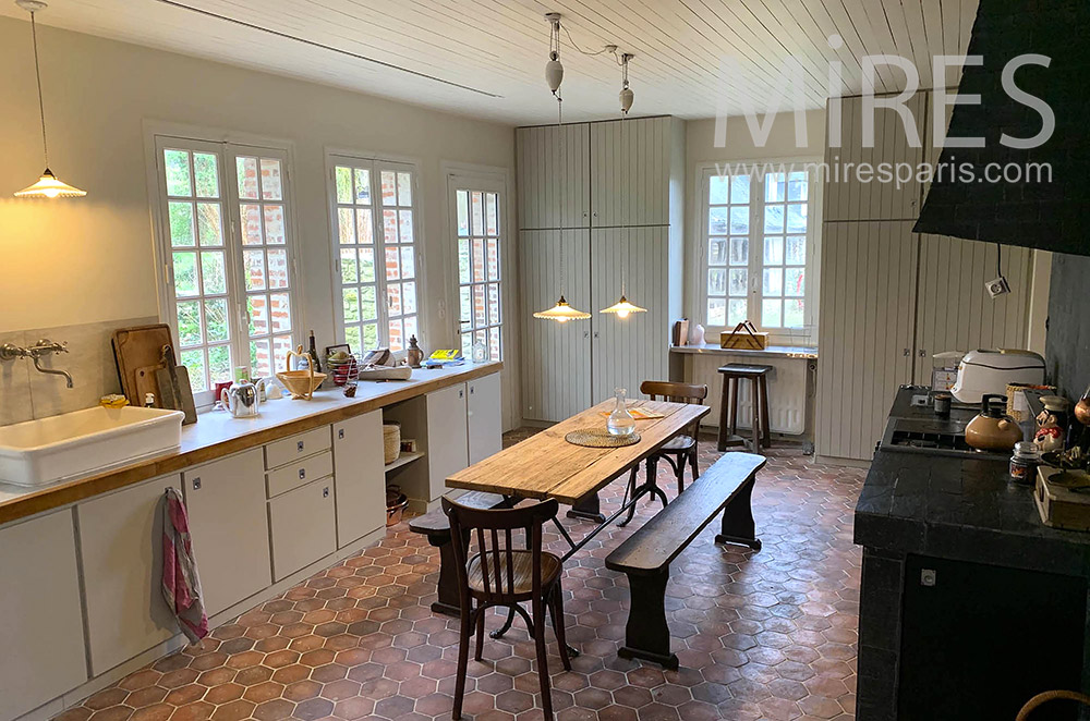 Country kitchen. C1863