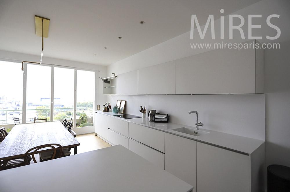 Design white kitchen. C1868
