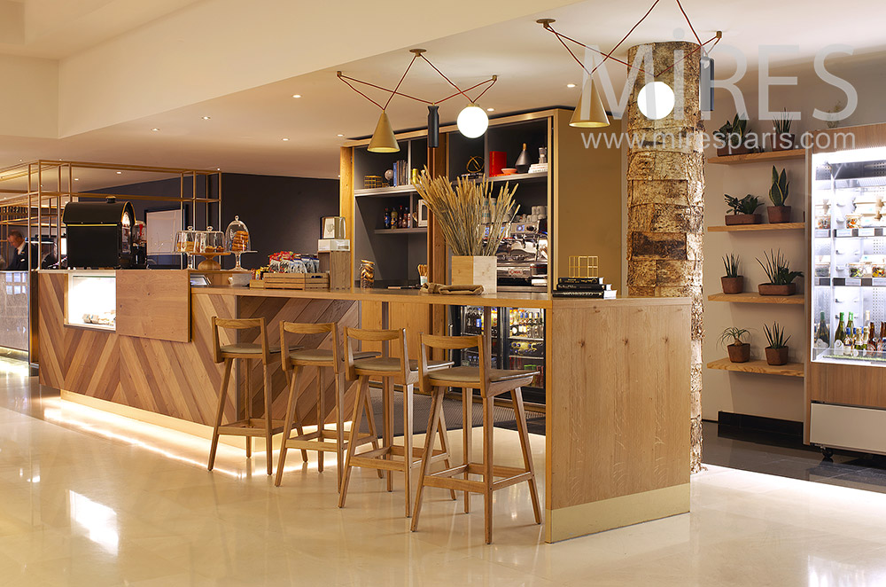 Wooden bar. C1870