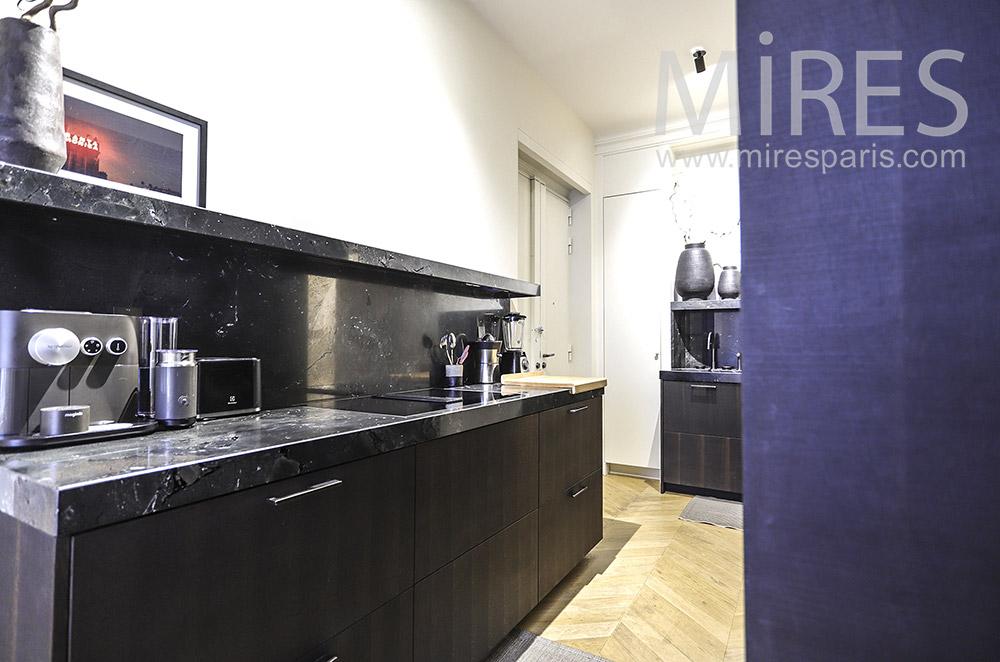 Modern black kitchen. C1879