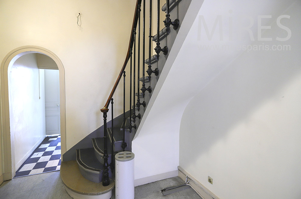 Escalier tournant. C1893