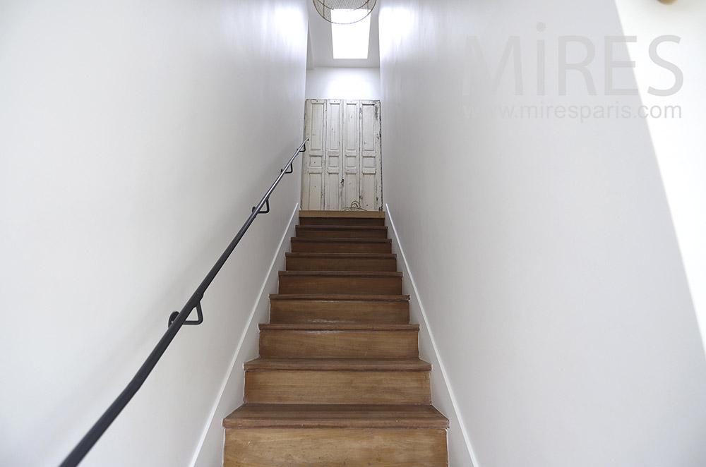 Escalier droit. C1895