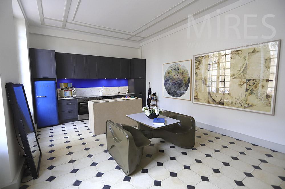 Designer kitchen. C1897