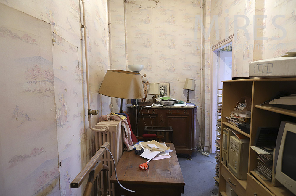 Small messy office. C1901