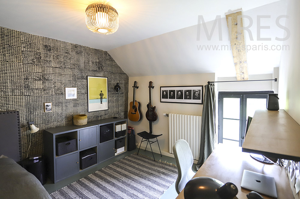 Teenager's bedroom. C1906