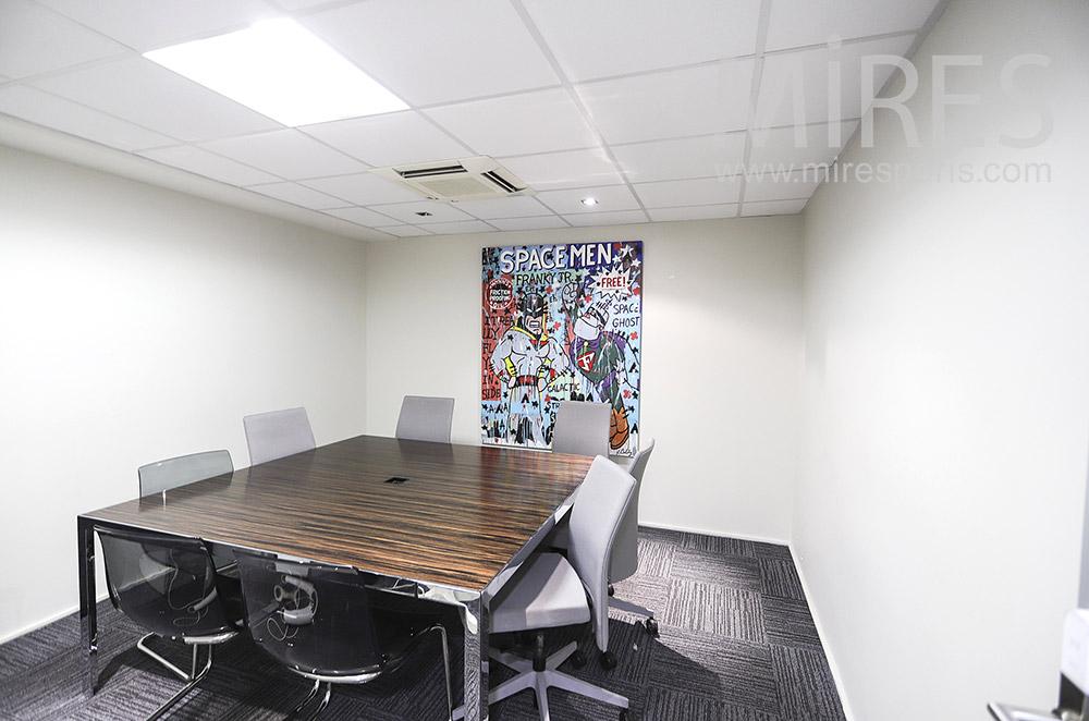 Bureau de réunion carré. C1910