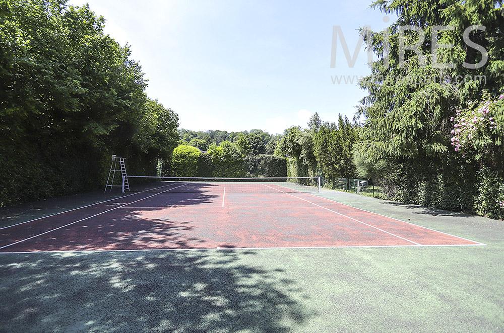 Tennis in a garden. C1917