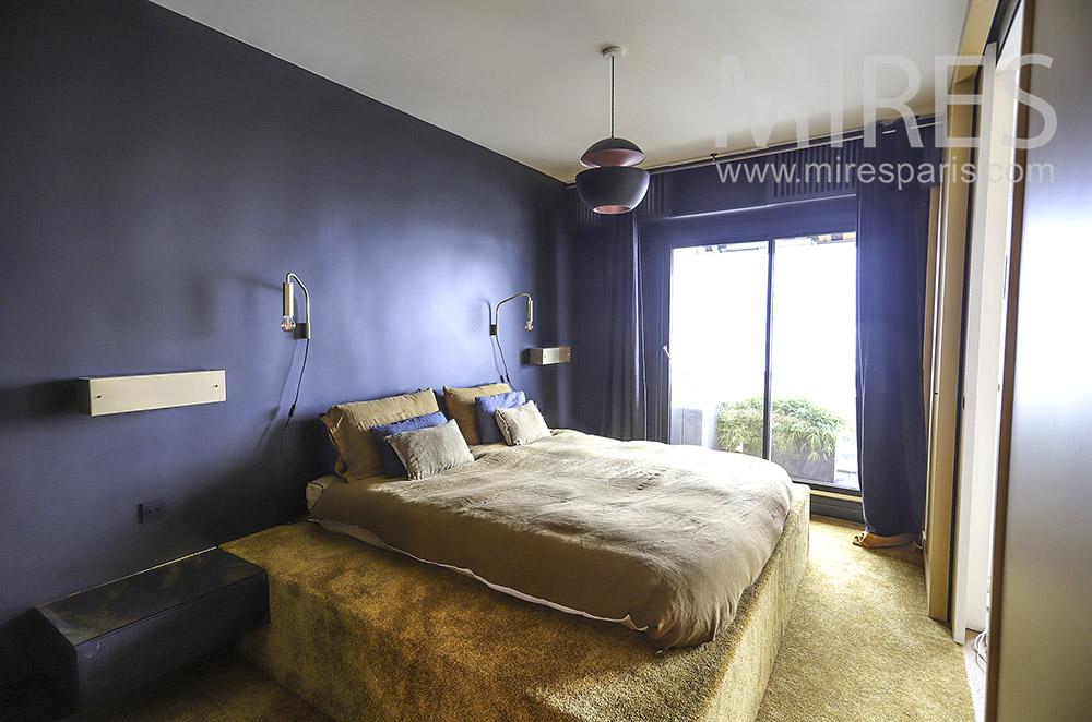 Midnight blue bedroom. C1922