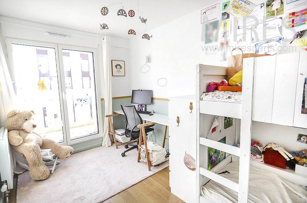 Children's room, bunk bed. C1928