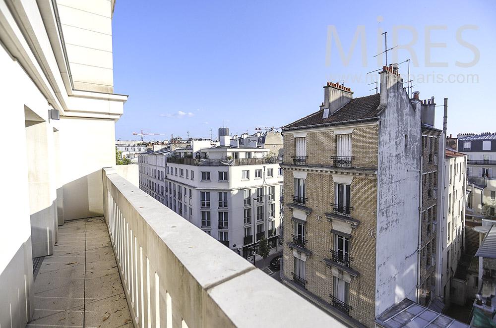 Balcon en béton. C1928