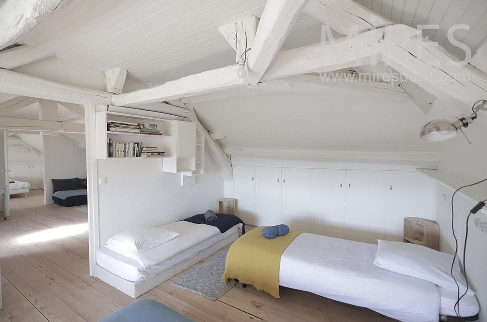 Children's bedroom in the attic. C1943