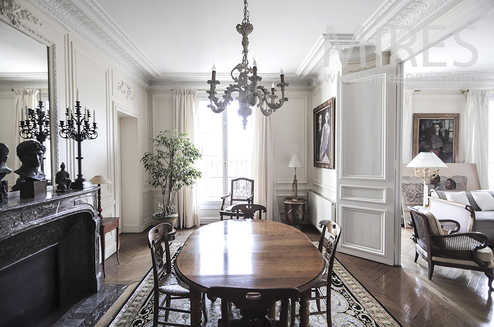 Beautiful classic dining room. C1946