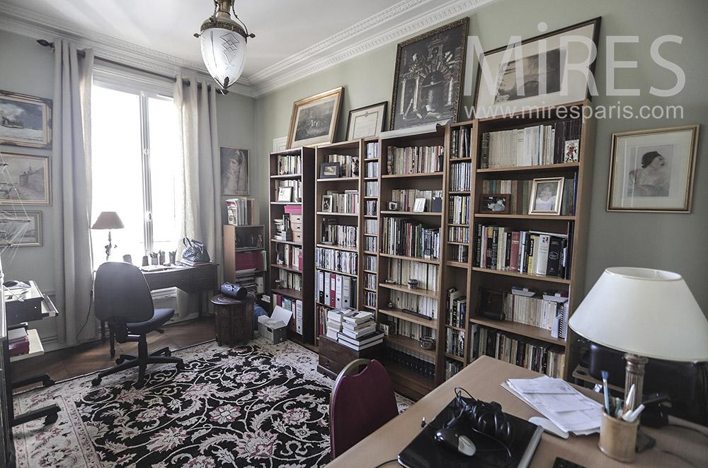 Bureau à bibliothèque. C1946