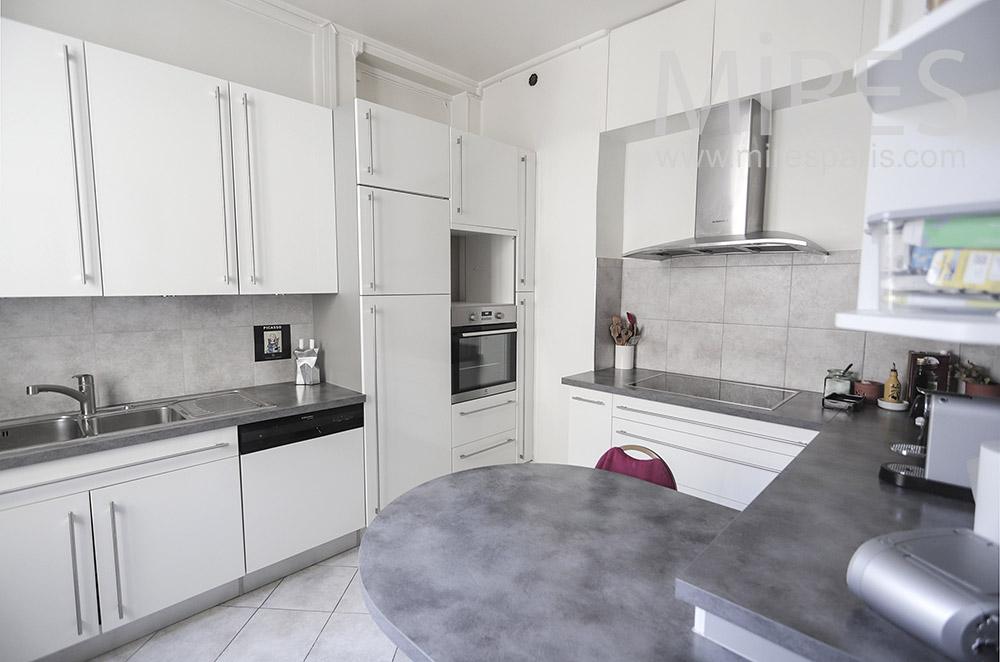 White kitchen. C1946